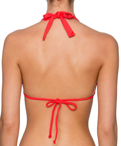 Swim Systems Cardinal Red -Day Dreamer Triangle Bikini Top