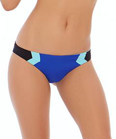 L*Space Color Block Barracuda Bikini Bottom - Royal