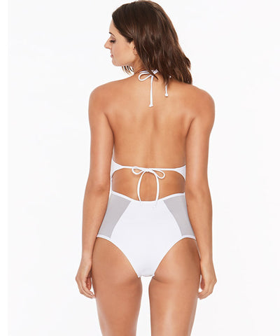 L*Space Color Block Fireside One Piece Swimsuit - White - Beachbliss Swimwear & Apparel - 2
