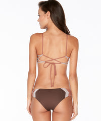 L*Space Color Block Haley Blocked Bikini Top - Chocolate