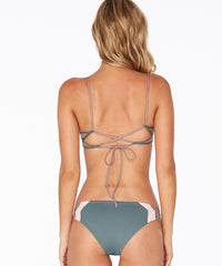L*Space Color Block Haley Blocked Bikini Top - Slated Glass