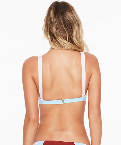 L*Space Color Block Mac Bikini Top - Redwood - Beachbliss Swimwear & Apparel - 2