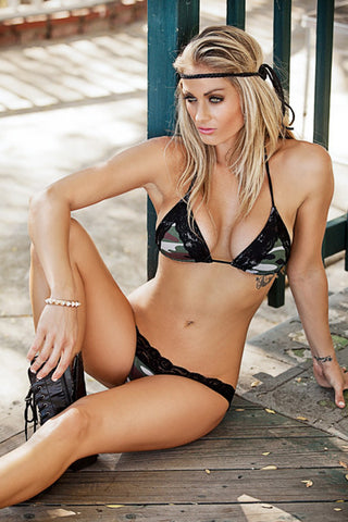 Chica Rica Bikini - GI Jane Lacey Bikini - Beachbliss Swimwear & Apparel - 1