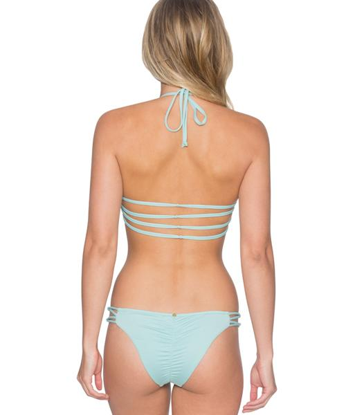 B. Swim Dawn Blue - Amore High Neck Halter Bikini Top