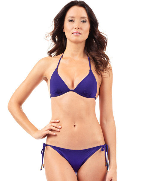 Voda Swim String Bikini Brazilian Cut Bottom in Loganberry - Beachbliss Swimwear & Apparel - 3