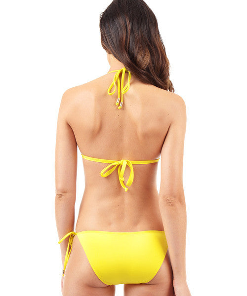 Voda Swim Envy Push Up String Bikini Top in Yellow - Beachbliss Swimwear & Apparel - 5
