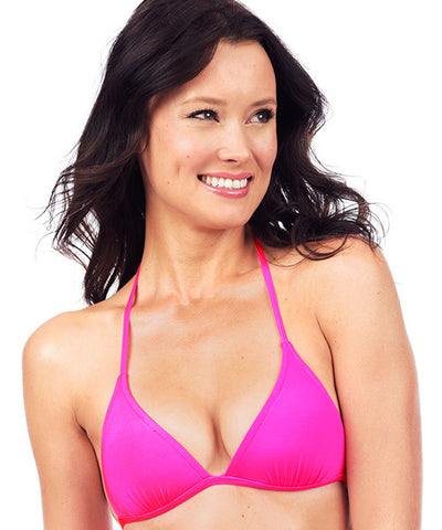 Voda Swim Envy Push Up String Bikini Top in Bright Pink