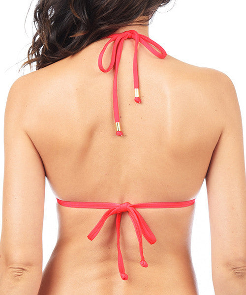 Voda Swim Envy Push Up String Bikini Top in Hot Coral - Beachbliss Swimwear & Apparel - 2