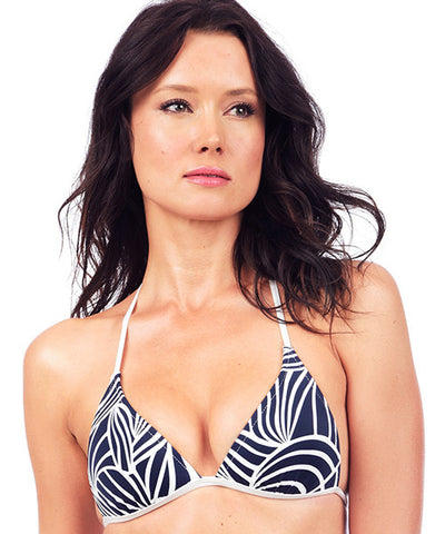 Voda Swim Envy Push Up String Bikini Top in Santorini