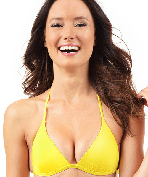 Voda Swim Envy Push Up String Bikini Top in Yellow - Beachbliss Swimwear & Apparel - 1