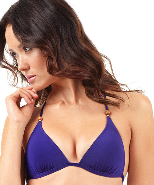 Voda Swim Envy Push Up Razor Back String Bikini Top in Loganberry - Beachbliss Swimwear & Apparel - 1