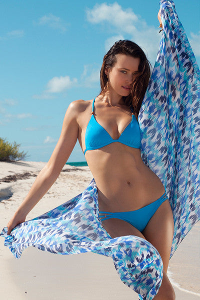 Voda Swim Sarong Cover Up in Blue - Beachbliss Swimwear & Apparel - 6