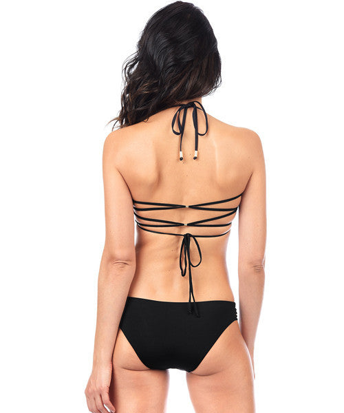 Voda Swim Reversible Strappy Bikini Bottom in Black - Beachbliss Swimwear & Apparel - 5