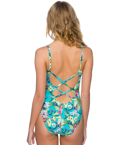 Sunsets Separates English Garden - Veronica V-Neck One Piece Swimsuit