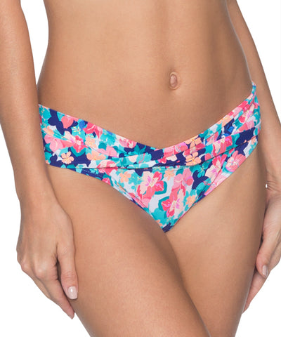 Sunsets Separates Flower Bed - Twist and Shout Sash Low Rise Bikini Bottom