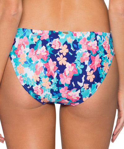 Sunsets Separates Flower Bed - Femme Fatale Side Shirred Bikini Bottom