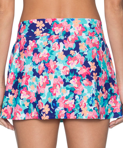 Sunsets Separates Flower Bed - Summer Lovin' V-Front Swim Skirt Bikini Bottom