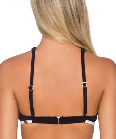 Sunsets Separates Fine Line Black - Hollywood Hi-Neck Bikini Top - Beachbliss Swimwear & Apparel - 2