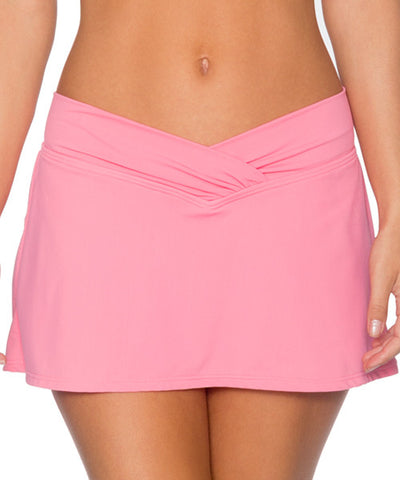 Sunsets Separates Flamingo - Summer Lovin' V-Front Swim Skirt Bikini Bottom - Beachbliss Swimwear & Apparel - 1