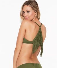 L*Space Fringe Ava Bikini Top - Jungle