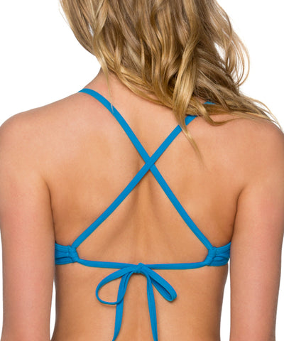 Sunsets Separates French Blue - Jayne X-Back Bikini Top