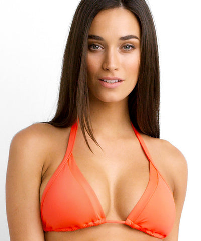 Seafolly - Slide Triangle Bikini Top in Necatarine - Beachbliss Swimwear & Apparel - 1