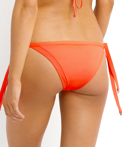 Seafolly - Brazilian Tie Side Pant in Necatarine - Beachbliss Swimwear & Apparel - 2