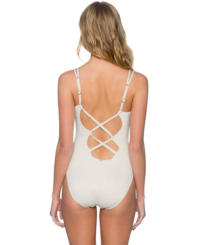 Sunsets Separates Gold Dust - Veronica V-Neck One Piece Swimsuit