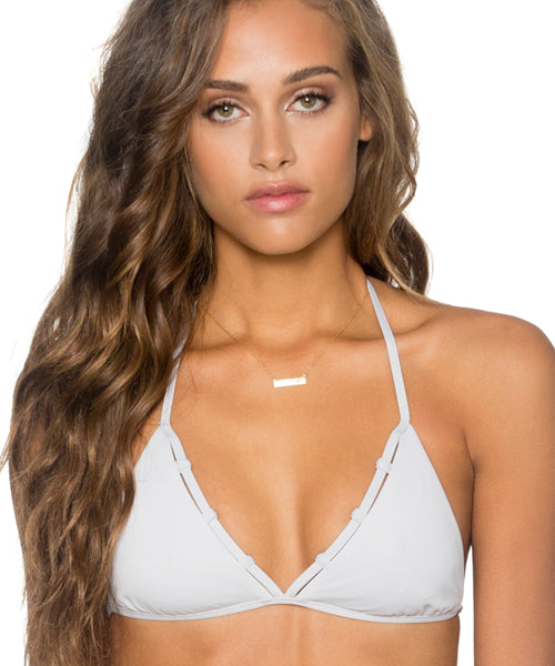 B. Swim Harbor Gray - Daybreaker Triangle Halter Bikini Top