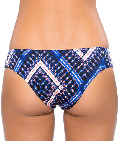 Hurley Swim - Tie Dye Maze Reversible Brief Pant Bikini Bottom in Blue - Beachbliss Swimwear & Apparel - 2