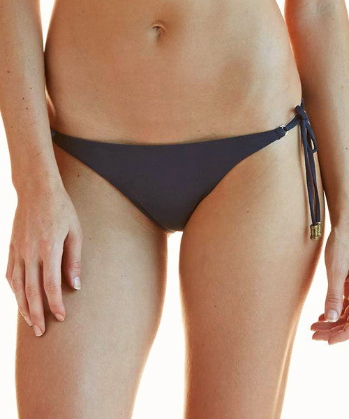 ViX Solid Indigo - Allure Long Tie Side Brazilian Bikini Bottom - Beachbliss Swimwear & Apparel - 1