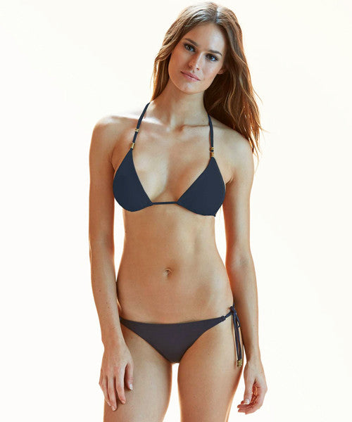 ViX Solid Indigo - Allure Long Tie Side Brazilian Bikini Bottom - Beachbliss Swimwear & Apparel - 3