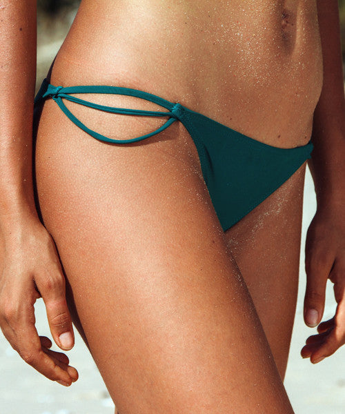 Kovey - Isle Strappy Brazilian Bikini Bottom in Mellow - Beachbliss Swimwear & Apparel - 2