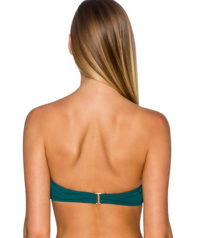 Sunsets Separates Jade - Iconic Twist Underwire Twist Bandeau Bikini Top - Beachbliss Swimwear & Apparel - 2