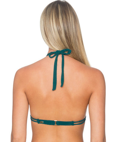 Sunsets Separates Jade - Marilyn Side Shirred Halter Bikini Top - Beachbliss Swimwear & Apparel - 2