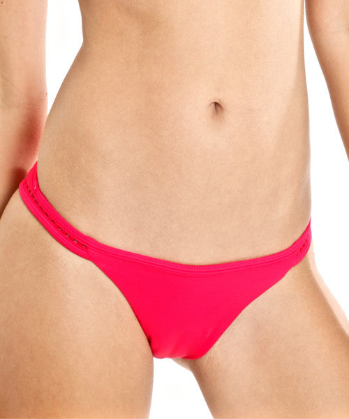 Peixoto - Kai Latin Bikini Bottom in Wat'a Red - Beachbliss Swimwear & Apparel - 1