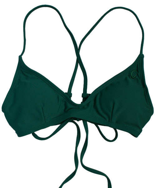 Kovey - Shred Cross Back Bikini Top in Forest
