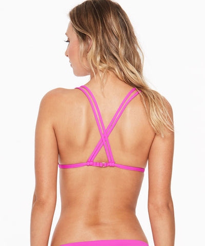 L*Space Sensual Solids Becky Bikini Top - Bright Fuchsia - Beachbliss Swimwear & Apparel - 2
