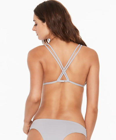 L*Space Sensual Solids Becky Bikini Top - Fog Grey - Beachbliss Swimwear & Apparel - 2