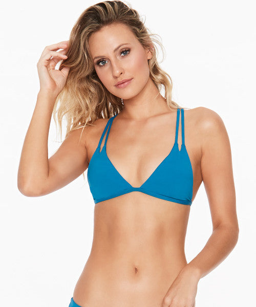 L*Space Sensual Solids Becky Bikini Top - Mediterranean - Beachbliss Swimwear & Apparel - 1