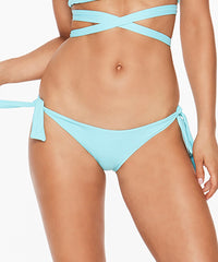 L*Space Solids Haven Seamless Tie Sides Bikini Bottom - Lagoon