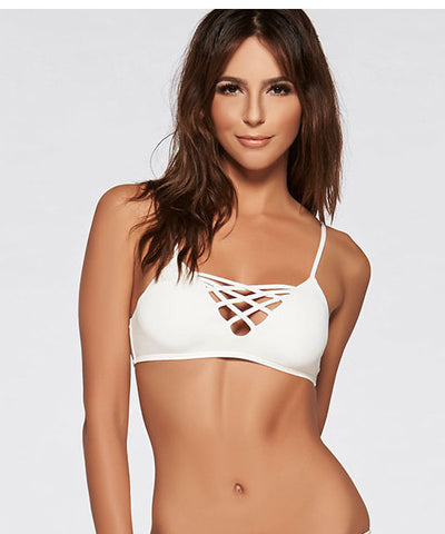 L*Space Sweet & Chic Jaime Bikini Top - White - Beachbliss Swimwear & Apparel - 1