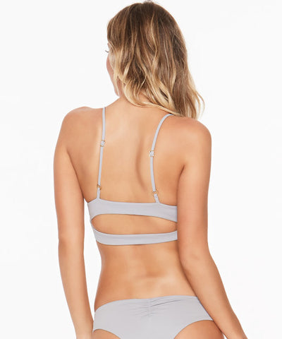 L*Space Sensual Solids Olivia Bikini Top - Fog Grey - Beachbliss Swimwear & Apparel - 2