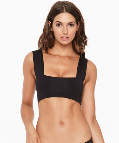 L*Space Deep Jungle Parker Bikini Top - Black