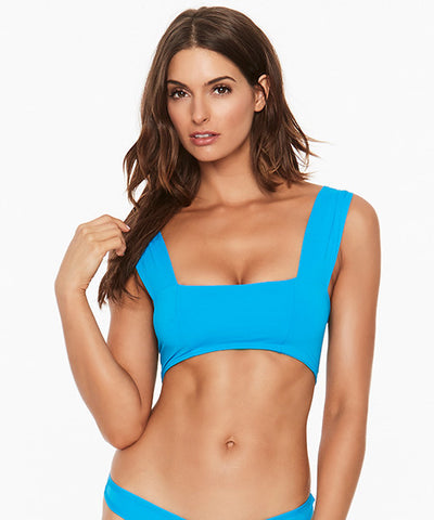 L*Space Two Tone Solids Whiplash Bitsy Bikini Bottom - Electric Blue