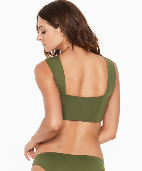 L*Space Solids Parker Bikini Top - Jungle