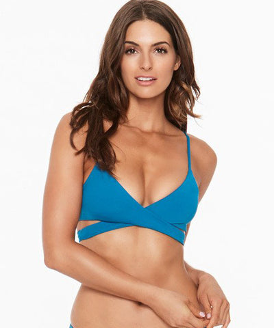 L*Space Sensual Solids Rocky Bikini Top - Mediterranean - Beachbliss Swimwear & Apparel - 1