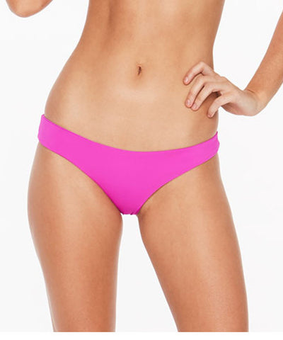 L*Space Sensual Solids Sandy Classic Bikini Bottom - Bright Fuchsia - Beachbliss Swimwear & Apparel - 1