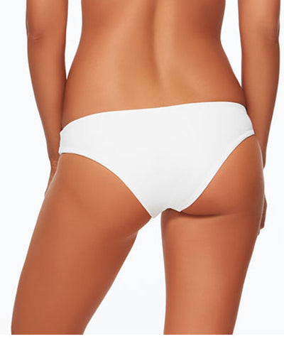 L*Space Sensual Solids Sandy Classic Bikini Bottom - White - Beachbliss Swimwear & Apparel - 2