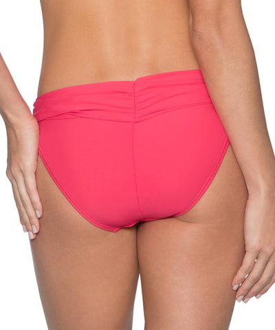 Sunsets Separates Lover's Coral - Unforgettable Shirred Waist Bikini Bottom